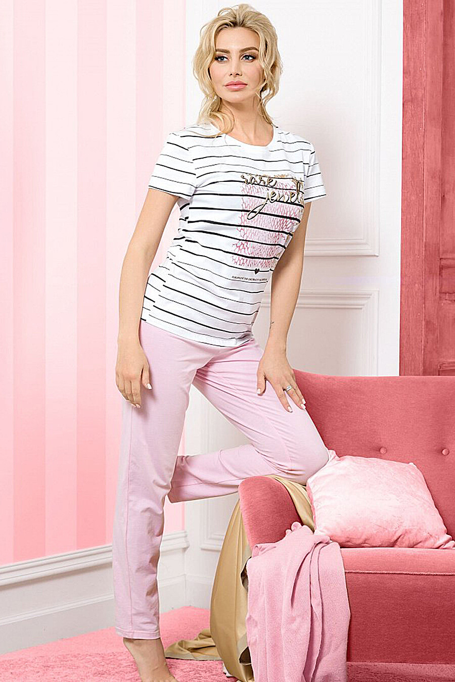 Комплект (Брюки+Футболка) для женщин PELICAN 131266 купить оптом от производителя. Совместная покупка женской одежды в OptMoyo