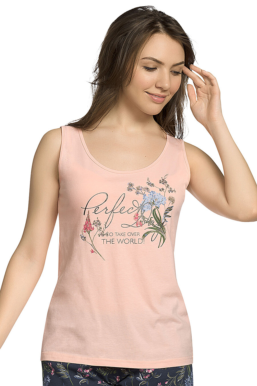 Комплект (Шорты+Майка) для женщин PELICAN 146692 купить оптом от производителя. Совместная покупка женской одежды в OptMoyo