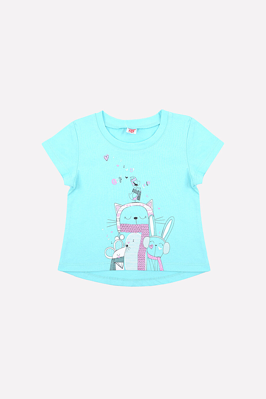Футболка для девочек CROCKID 153042 купить оптом от производителя. Совместная покупка детской одежды в OptMoyo