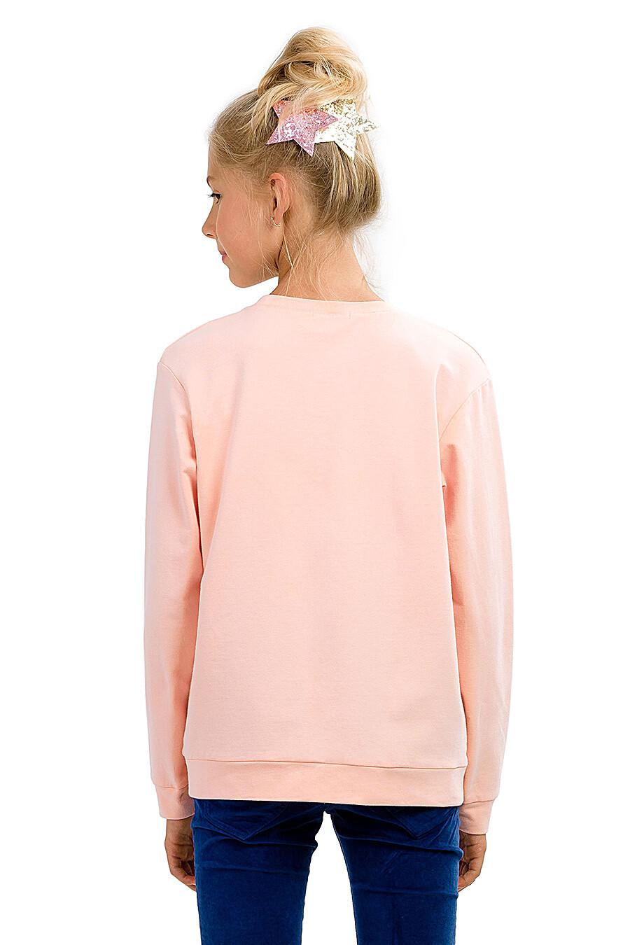 Толстовка для девочек PELICAN 161250 купить оптом от производителя. Совместная покупка детской одежды в OptMoyo
