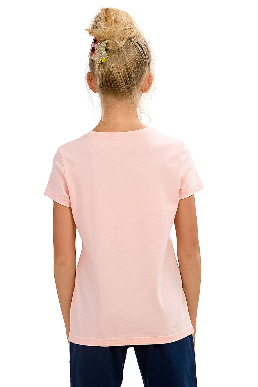 Футболка для девочек PELICAN 161259 купить оптом от производителя. Совместная покупка детской одежды в OptMoyo