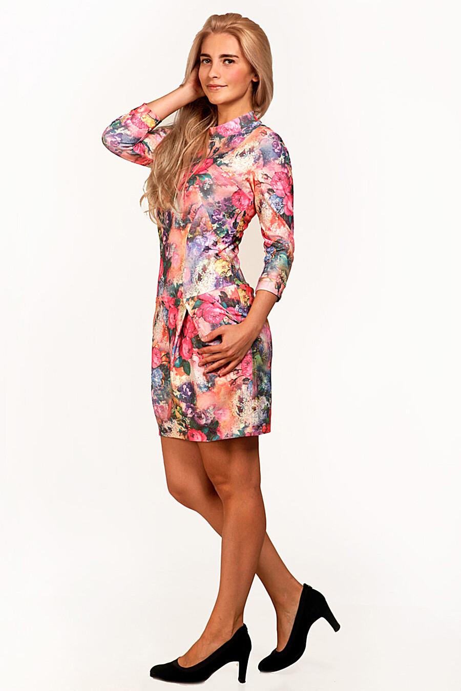 Платье для женщин DREAM WORLD 165408 купить оптом от производителя. Совместная покупка женской одежды в OptMoyo