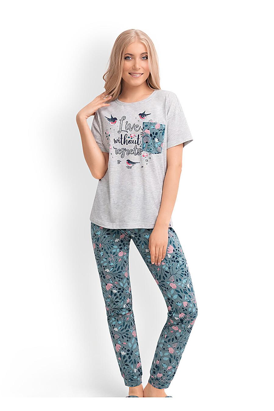 Комплект (футболка+брюки) для женщин CLEVER 169236 купить оптом от производителя. Совместная покупка женской одежды в OptMoyo