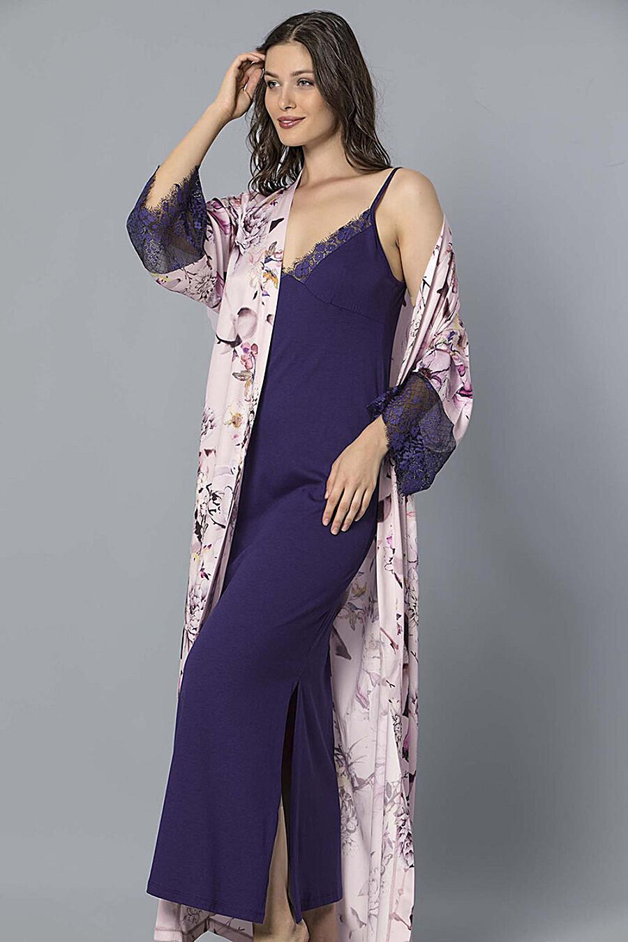 Комплект (халат+сорочка) для женщин PE.CHITTO 169422 купить оптом от производителя. Совместная покупка женской одежды в OptMoyo