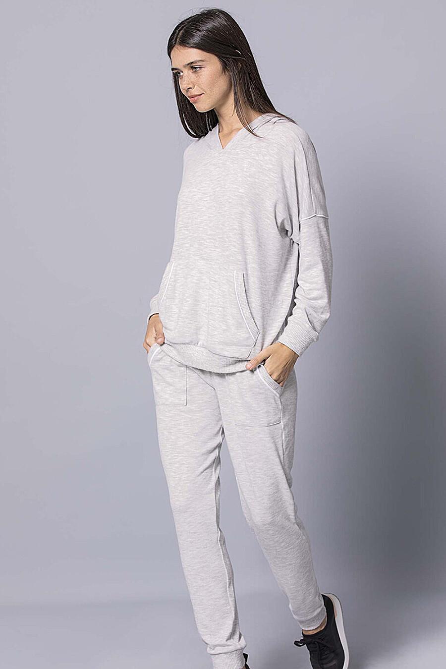 Костюм (худи+брюки) для женщин PE.CHITTO 169424 купить оптом от производителя. Совместная покупка женской одежды в OptMoyo