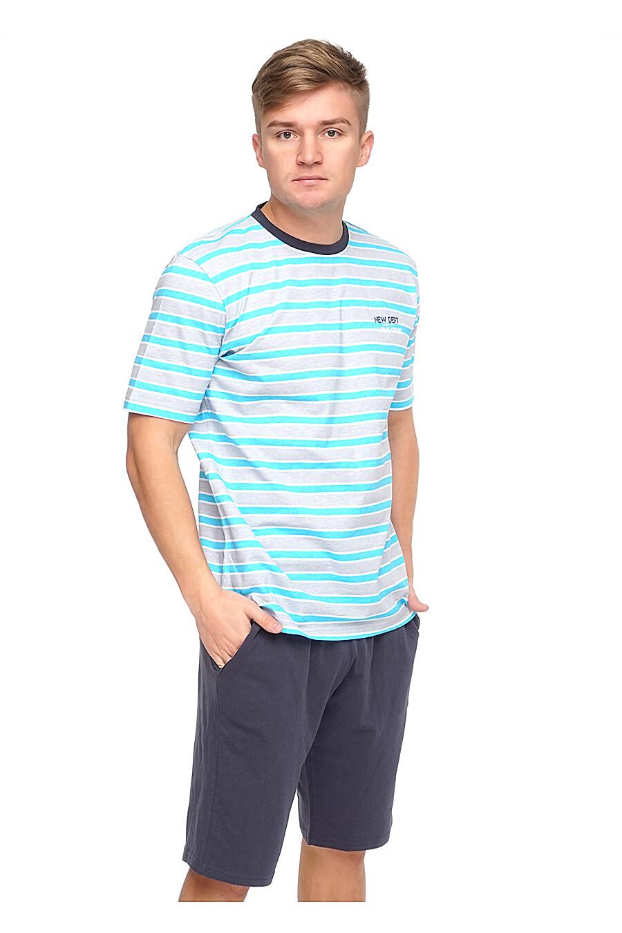 Комплект (шорты+футболка) для мужчин CLEVER 176025 купить оптом от производителя. Совместная покупка мужской одежды в OptMoyo
