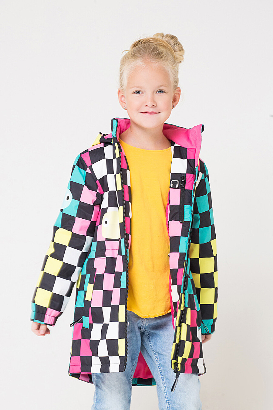 Пальто для девочек CROCKID 176070 купить оптом от производителя. Совместная покупка детской одежды в OptMoyo