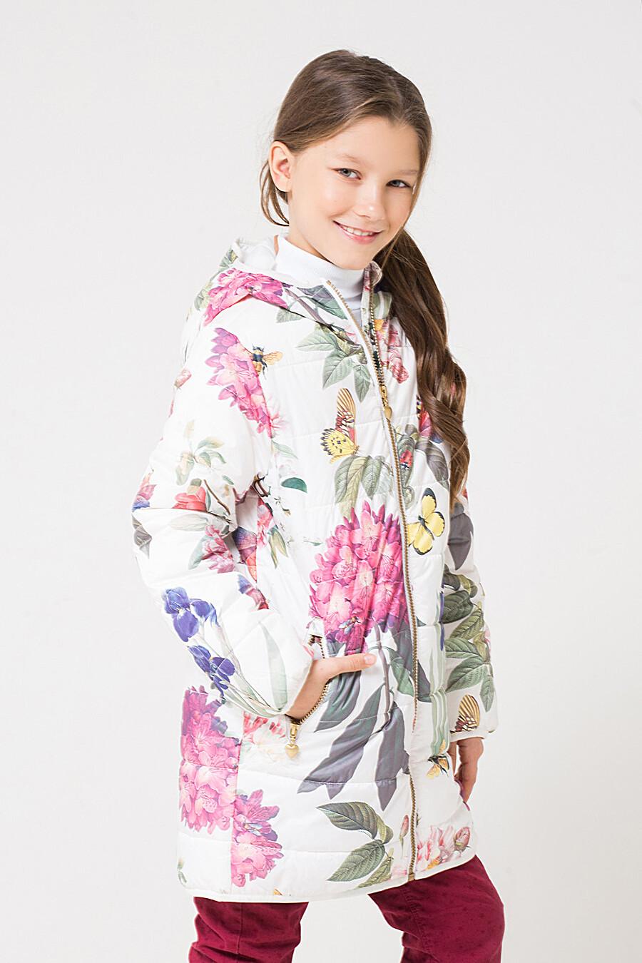 Пальто для девочек CROCKID 176073 купить оптом от производителя. Совместная покупка детской одежды в OptMoyo