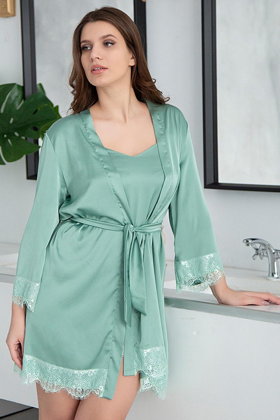 Комплект (Сорочка+Халат) для женщин BELLUCHE 176111 купить оптом от производителя. Совместная покупка женской одежды в OptMoyo