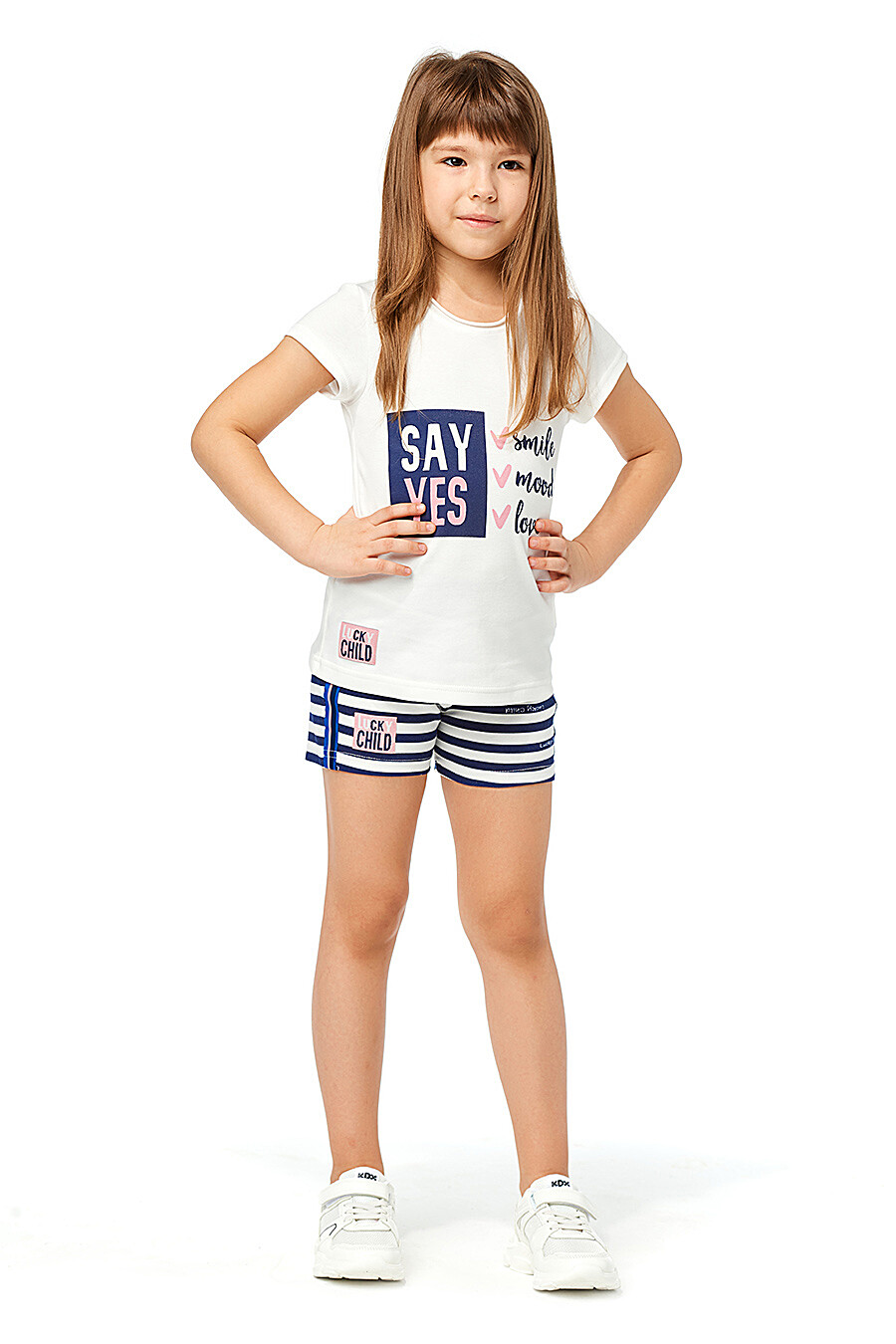 Футболка для девочек LUCKY CHILD 184447 купить оптом от производителя. Совместная покупка детской одежды в OptMoyo