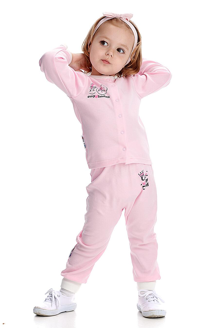 Брюки для девочек LUCKY CHILD 184782 купить оптом от производителя. Совместная покупка детской одежды в OptMoyo