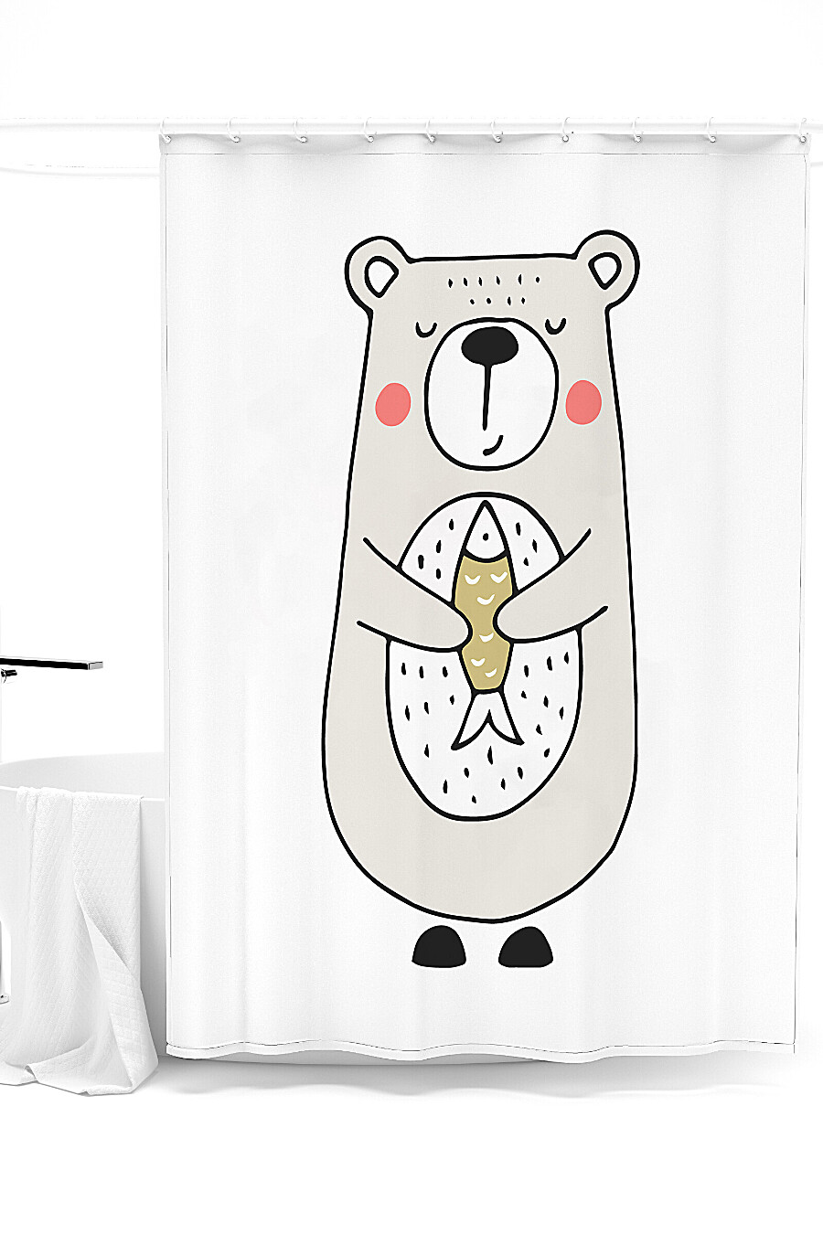 Штора для ванной для дома ART HOME TEXTILE 247943 купить оптом от производителя. Совместная покупка товаров для дома в OptMoyo