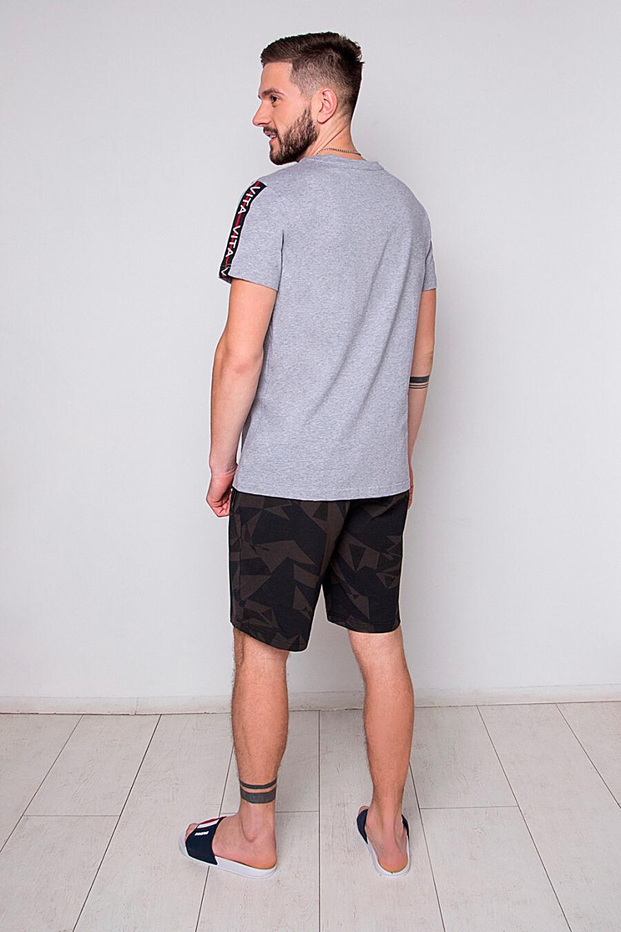 Комплект (Шорты+Футболка) для мужчин INDEFINI 272388 купить оптом от производителя. Совместная покупка мужской одежды в OptMoyo