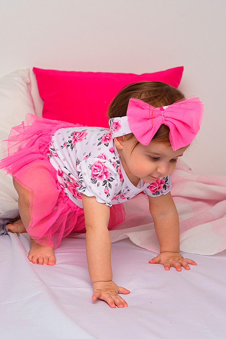 Платье-боди для девочек PLAYTODAY 649440 купить оптом от производителя. Совместная покупка детской одежды в OptMoyo