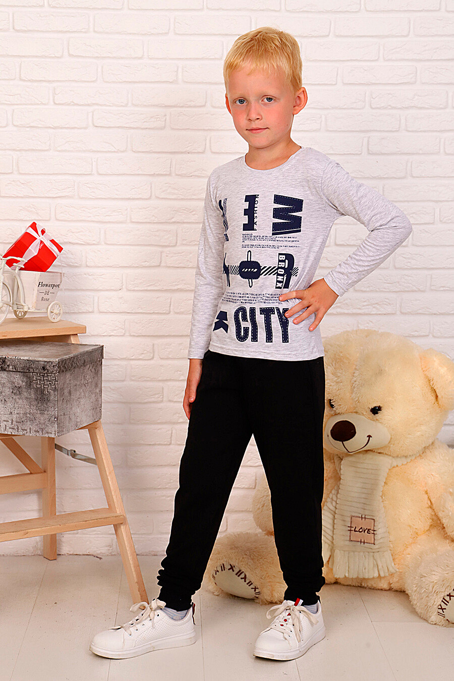 Лонгслив для мальчиков SOFIYA37 667865 купить оптом от производителя. Совместная покупка детской одежды в OptMoyo