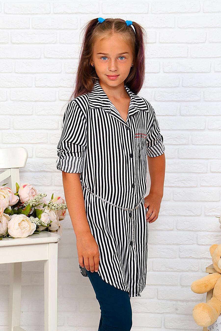 Туника-рубашка для девочек SOFIYA37 667885 купить оптом от производителя. Совместная покупка детской одежды в OptMoyo