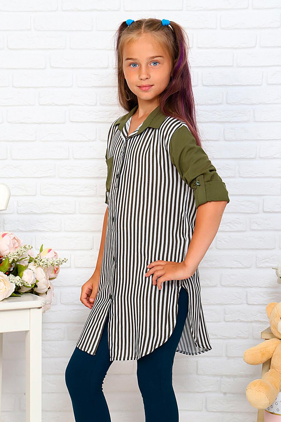 Туника-рубашка для девочек SOFIYA37 667927 купить оптом от производителя. Совместная покупка детской одежды в OptMoyo