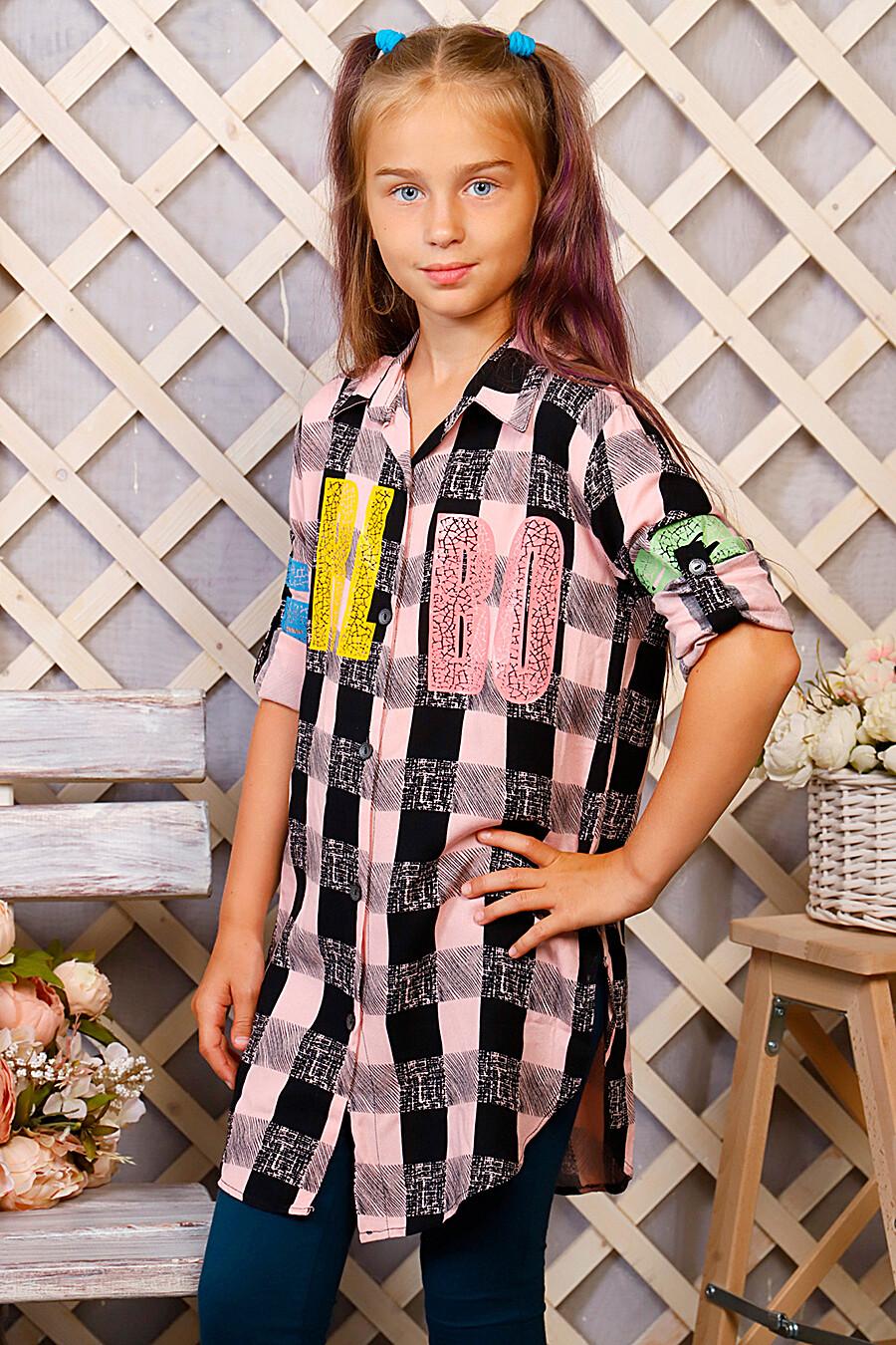 Туника-рубашка для девочек SOFIYA37 667932 купить оптом от производителя. Совместная покупка детской одежды в OptMoyo