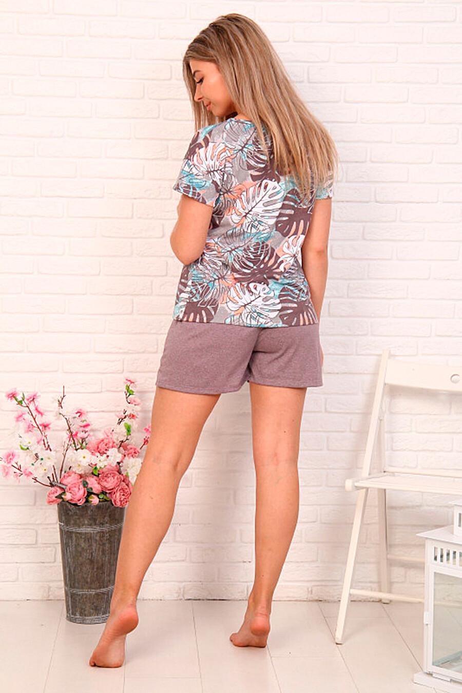 Костюм (Футболка + Шорты) для женщин SOFIYA37 668350 купить оптом от производителя. Совместная покупка женской одежды в OptMoyo