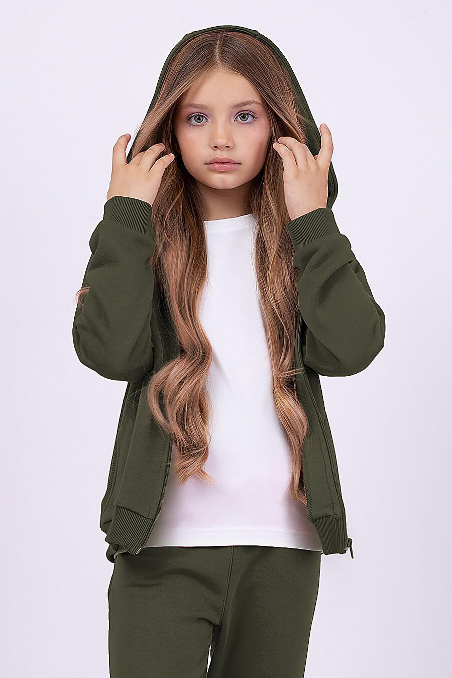 Костюм(Толстовка+Брюки) для девочек EZANNA 682395 купить оптом от производителя. Совместная покупка детской одежды в OptMoyo