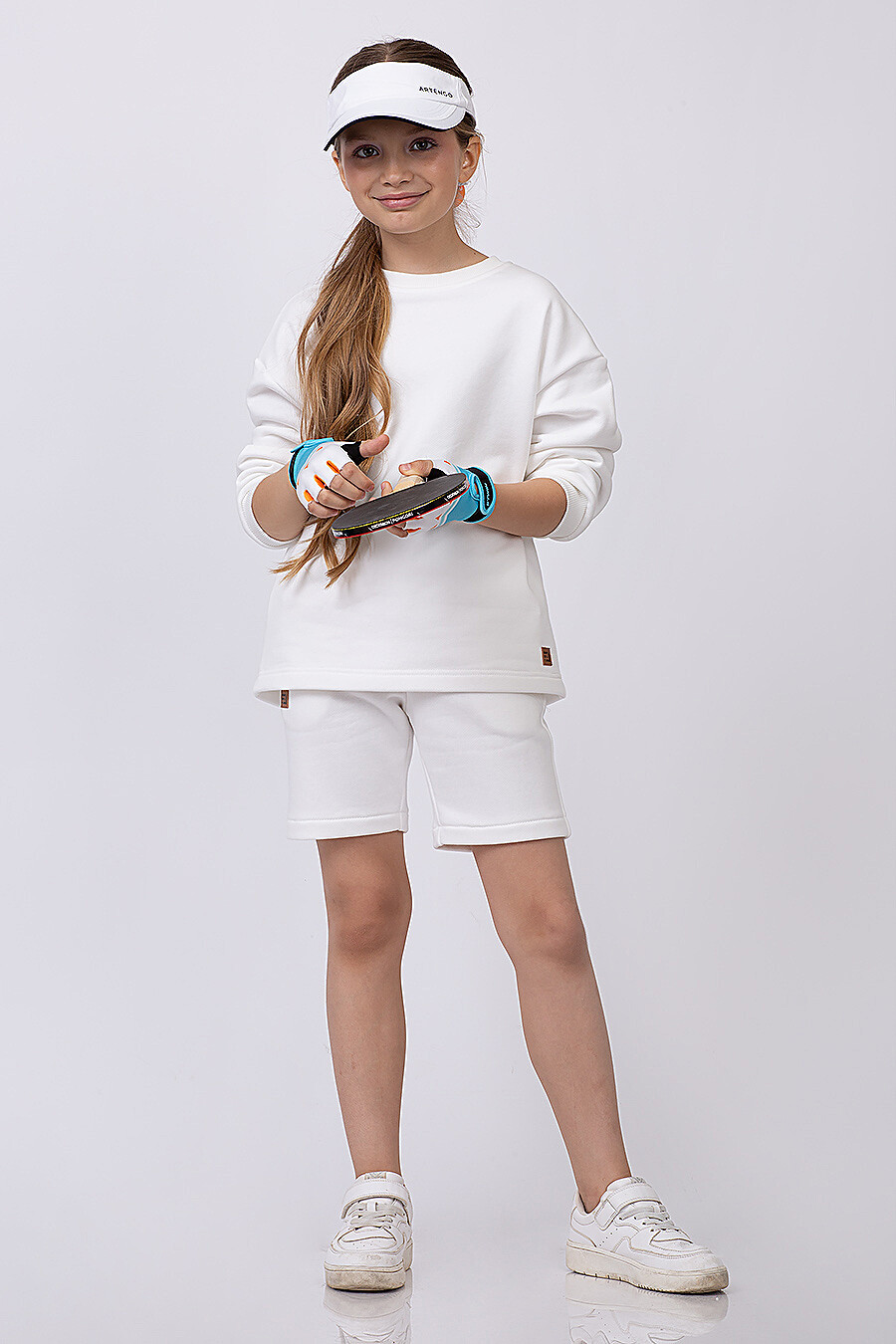 Костюм(Свитшот + Шорты) для девочек EZANNA 683219 купить оптом от производителя. Совместная покупка детской одежды в OptMoyo