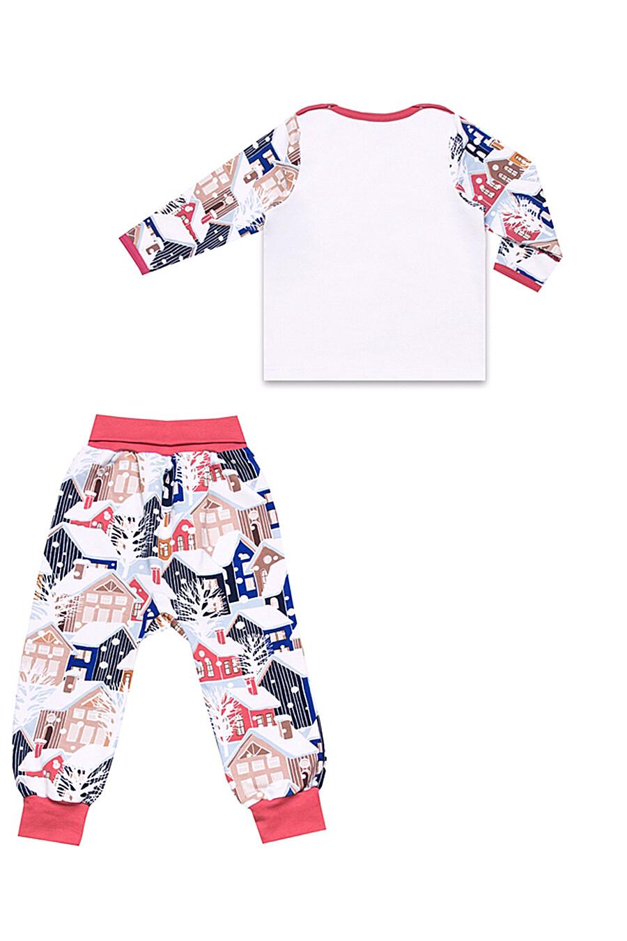 Комплект (лонгслив+ползунки) для девочек АПРЕЛЬ 699924 купить оптом от производителя. Совместная покупка детской одежды в OptMoyo