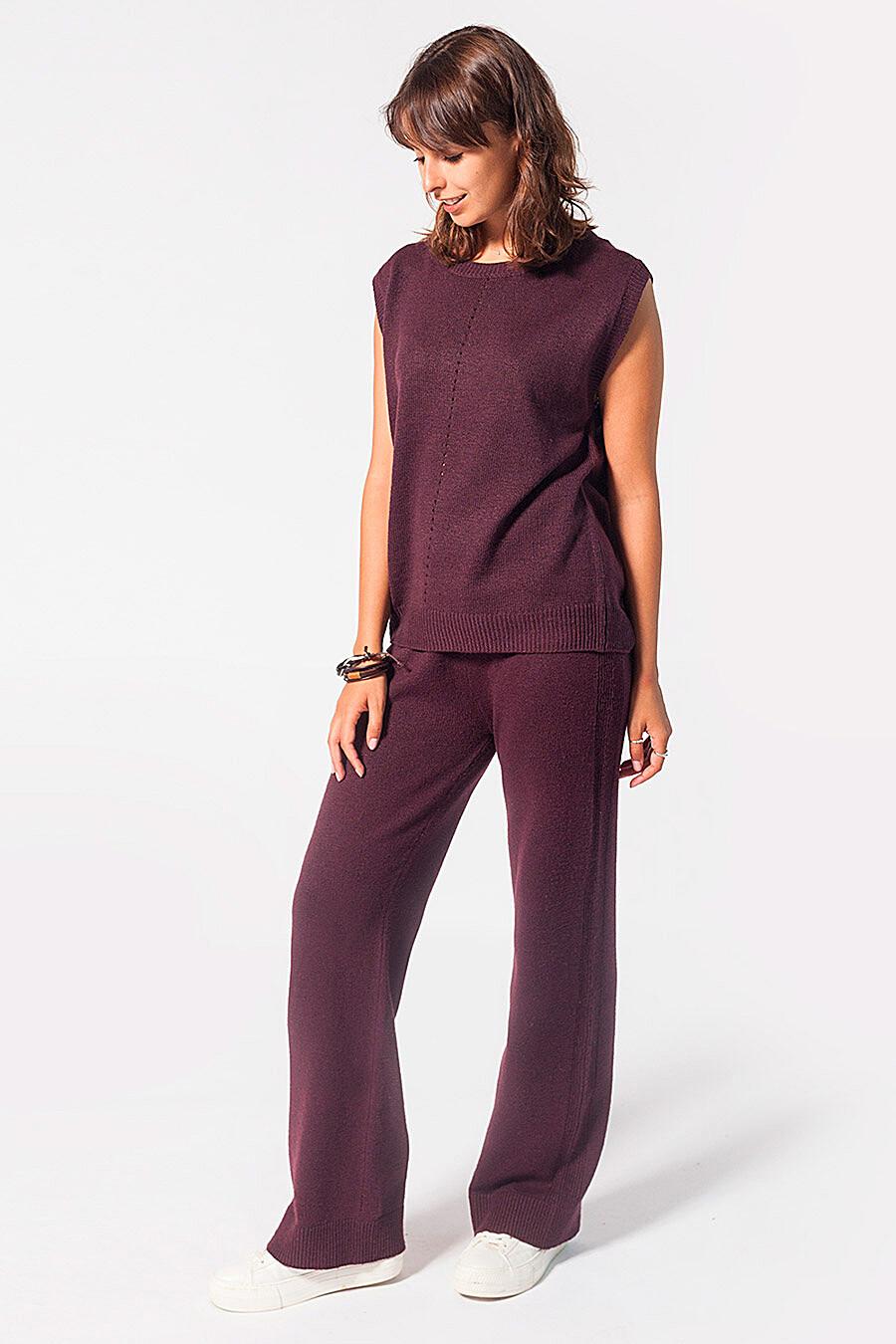 Брюки для женщин VILATTE 700235 купить оптом от производителя. Совместная покупка женской одежды в OptMoyo