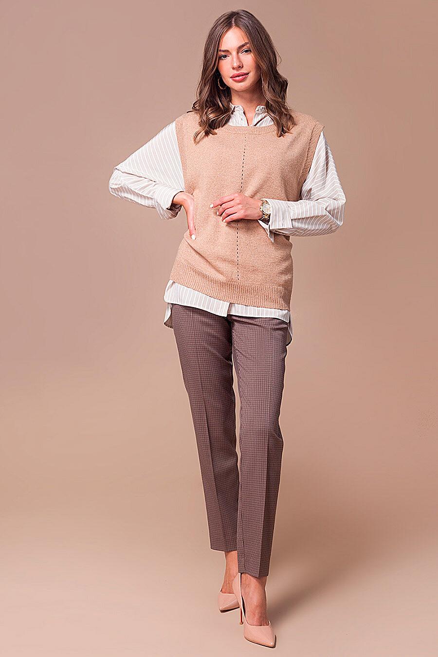Жилет для женщин VILATTE 700257 купить оптом от производителя. Совместная покупка женской одежды в OptMoyo