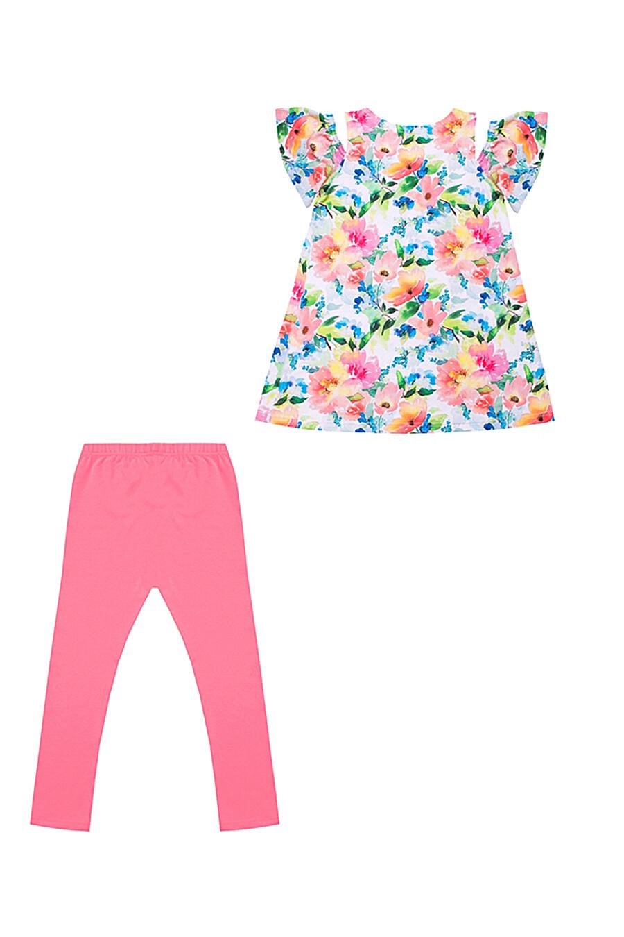Комплект (туника+леггинсы) для девочек АПРЕЛЬ 700326 купить оптом от производителя. Совместная покупка детской одежды в OptMoyo