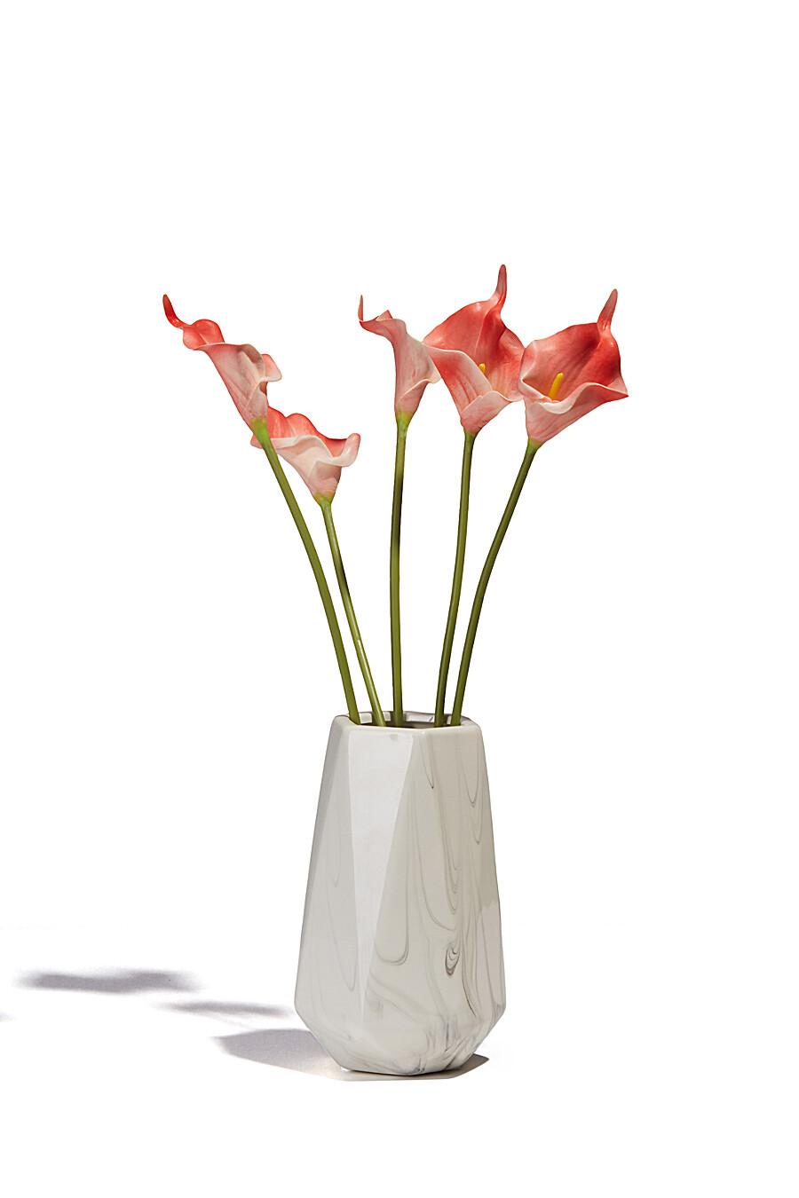"""Букет цветы каллы алоказия цветущие растения декоративные искусственные мини-каллы """"Очарование"""" MERSADA (700539), купить в Moyo.moda"""