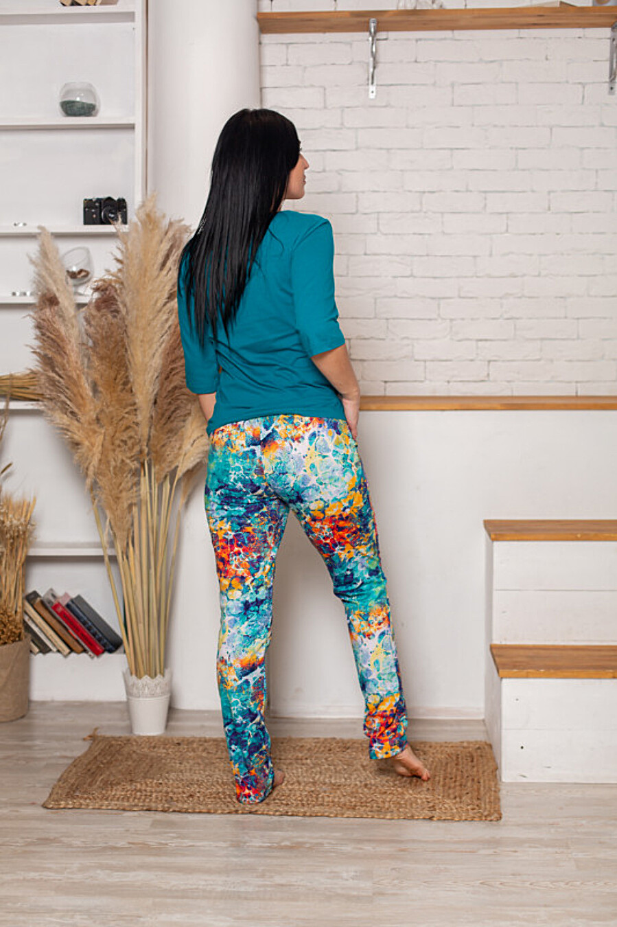 Костюм (футболка+брюки) для женщин SOFIYA37 708051 купить оптом от производителя. Совместная покупка женской одежды в OptMoyo