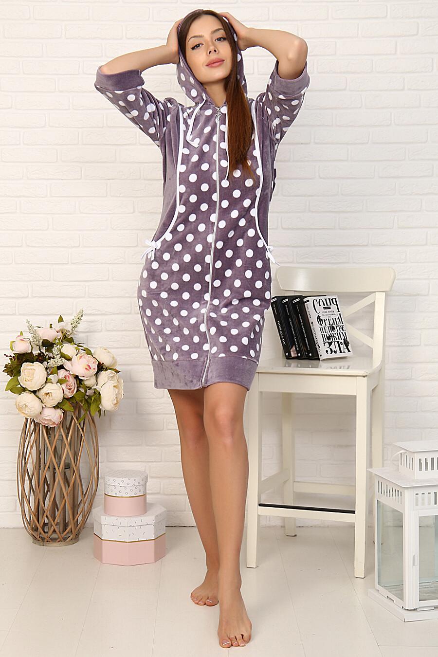 Халат 46017 для женщин НАТАЛИ 708422 купить оптом от производителя. Совместная покупка женской одежды в OptMoyo