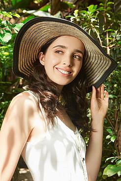 Плетеная шляпа Райские пляжи Бали с мягкими полями Nothing But Love