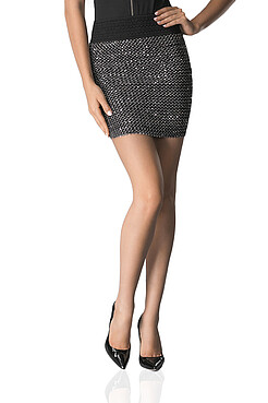 Облегающая мини юбка с пайетками MERSADA