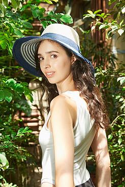 Плетеная шляпка Французская Ривьера в морском стиле Nothing But Love
