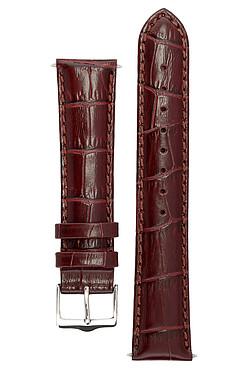 Классический ремешок для часов из кожи теленка с фактурой под аллигатора, Ширина от 14 до 24 мм SIGNATURE