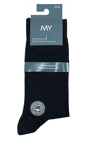 MY Носки мужские MSC 001 (1/100) black (черный) MY