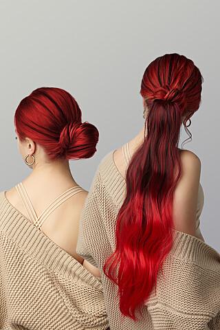 """Накладной хвост шиньон с заколкой накладные волосы с градиентно окрашенными прядями """"Кассандра"""" Nothing But Love"""