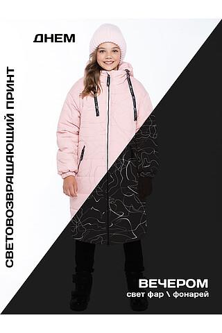 Пальто 6з4821 пудровый NIKASTYLE