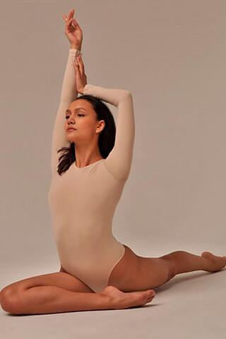 MY Боди женское BO296 BODY MAGLIA GIROCOLLO TONDO (1/68) (nudo (телесный) MY