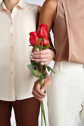 """Букет 3 розы """"Бутон розы"""" MERSADA"""