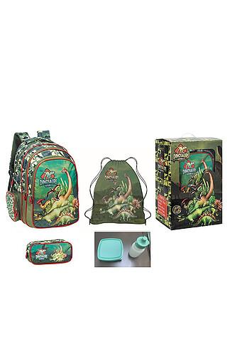 Комплект (рюкзак+пенал+сумка для обуви+пластиковая бутылка+ланч-бокс) PLAYTODAY