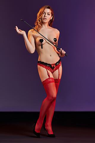 """Комплект белья """"Миледи"""": трусики с подвязками и чулки LE CABARET"""