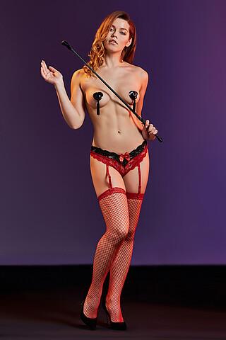 """Комплект белья """"Само совершенство"""": трусики с подвязками и чулки LE CABARET"""
