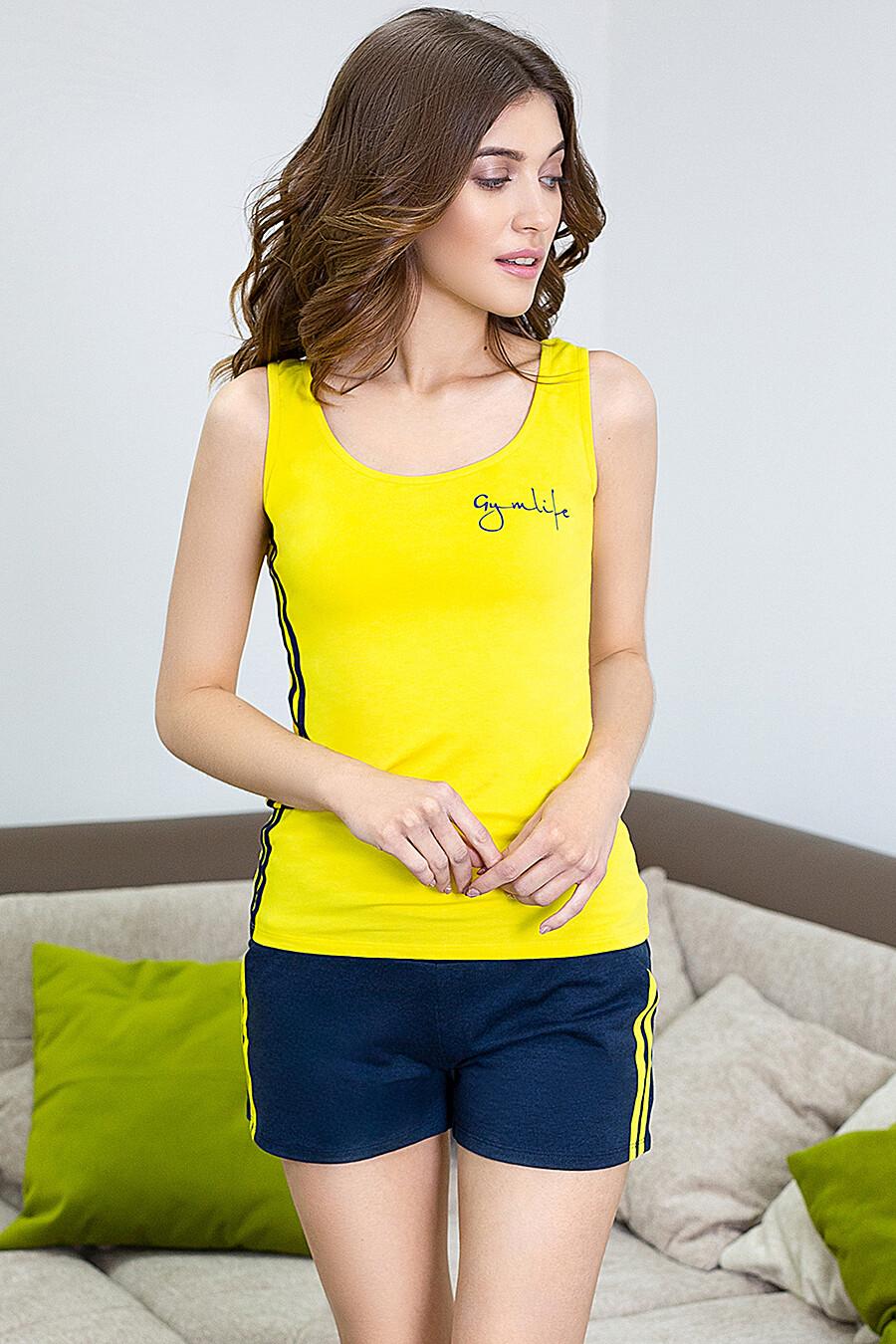 Комплект (Майка+Шорты) для женщин LEINLE 116816 купить оптом от производителя. Совместная покупка женской одежды в OptMoyo