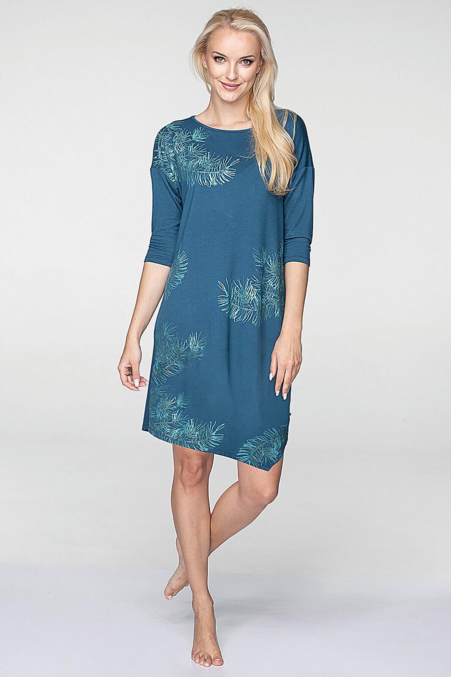 Домашнее платье для женщин KEY 158174 купить оптом от производителя. Совместная покупка женской одежды в OptMoyo
