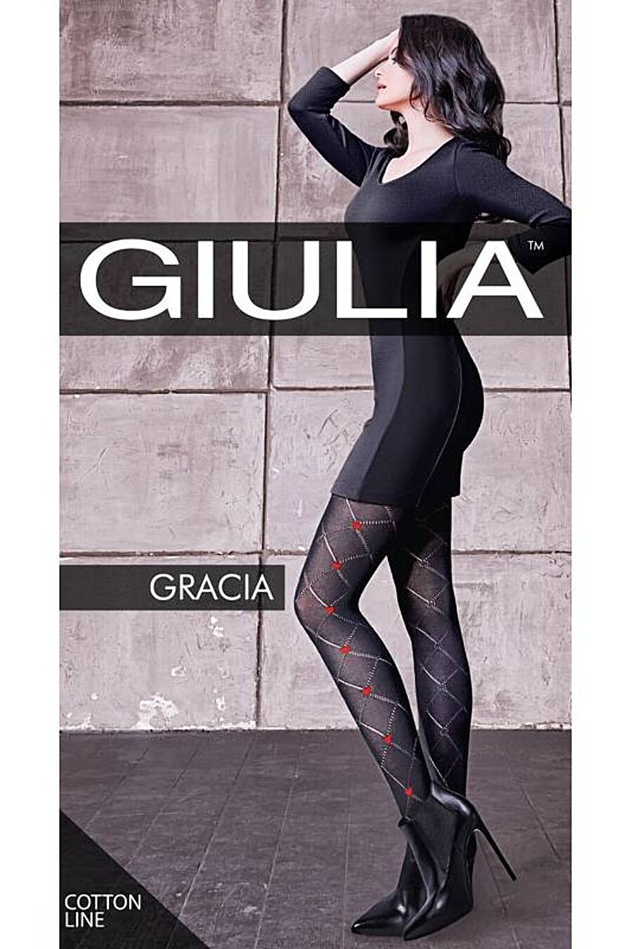 Колготки для женщин GIULIA 159377 купить оптом от производителя. Совместная покупка женской одежды в OptMoyo