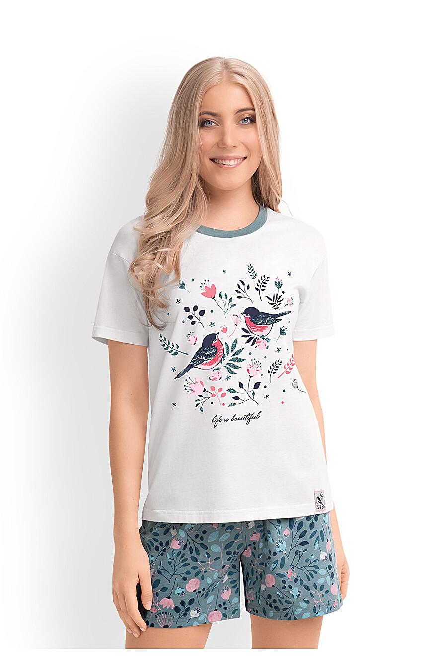 Комплект (футболка+шорты) для женщин CLEVER 169238 купить оптом от производителя. Совместная покупка женской одежды в OptMoyo