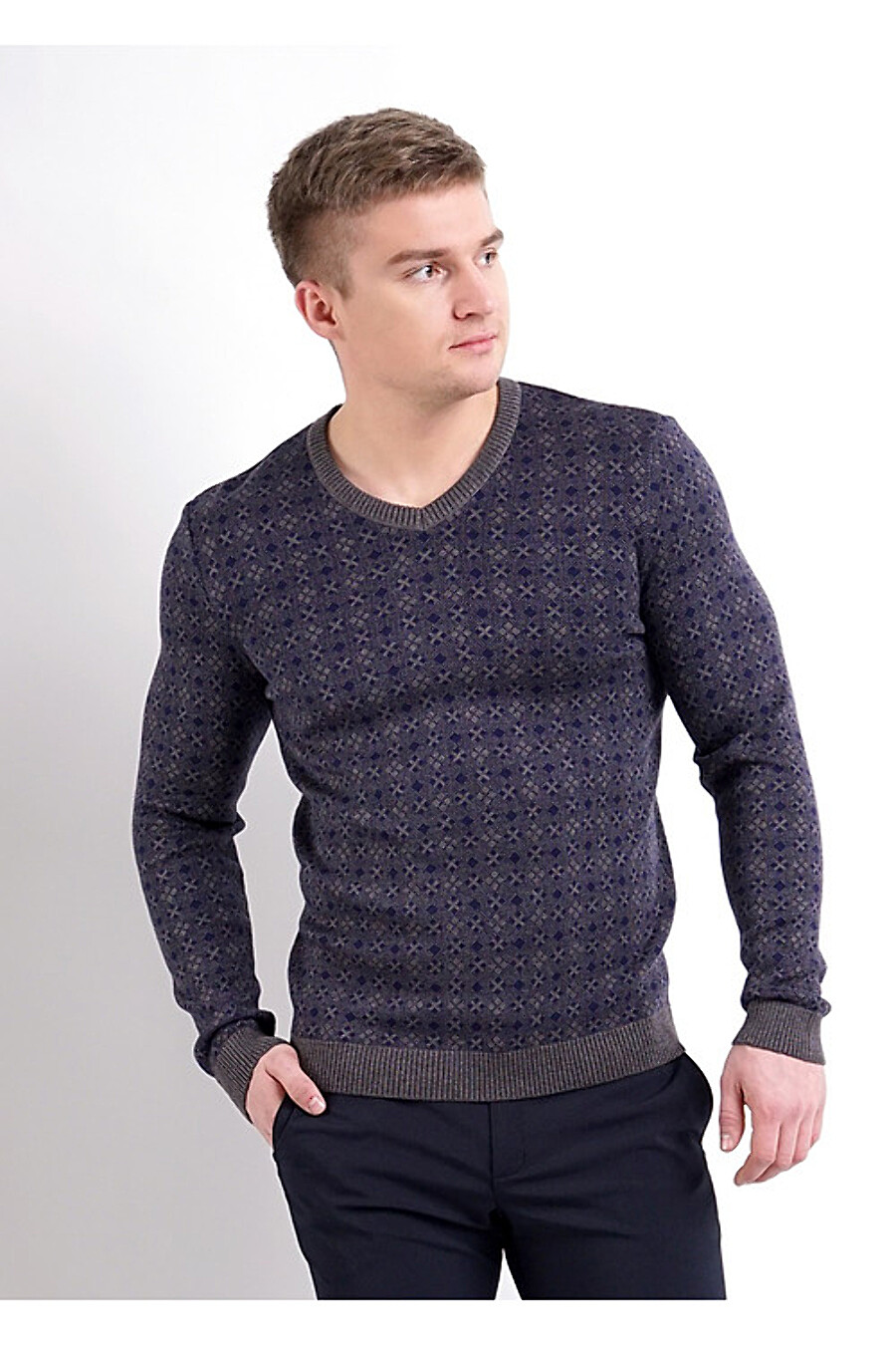 Джемпер для мужчин CLEVER 169319 купить оптом от производителя. Совместная покупка мужской одежды в OptMoyo