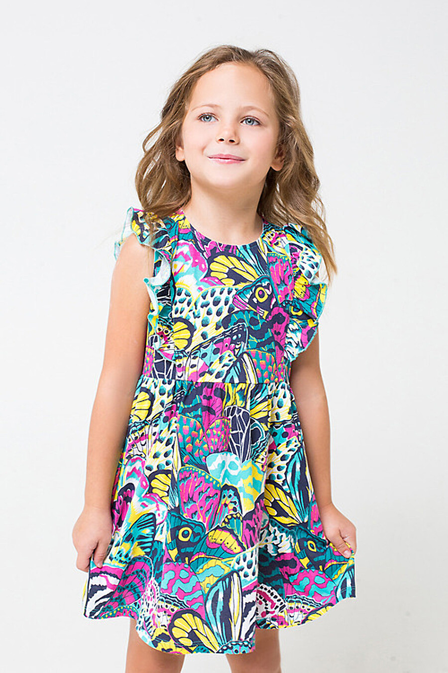Платье для девочек CROCKID 180659 купить оптом от производителя. Совместная покупка детской одежды в OptMoyo
